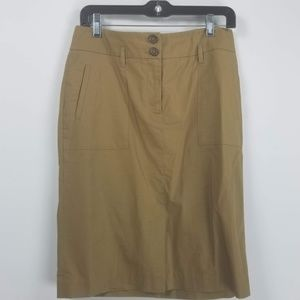 Banana republic pencil skirt size 6 tan